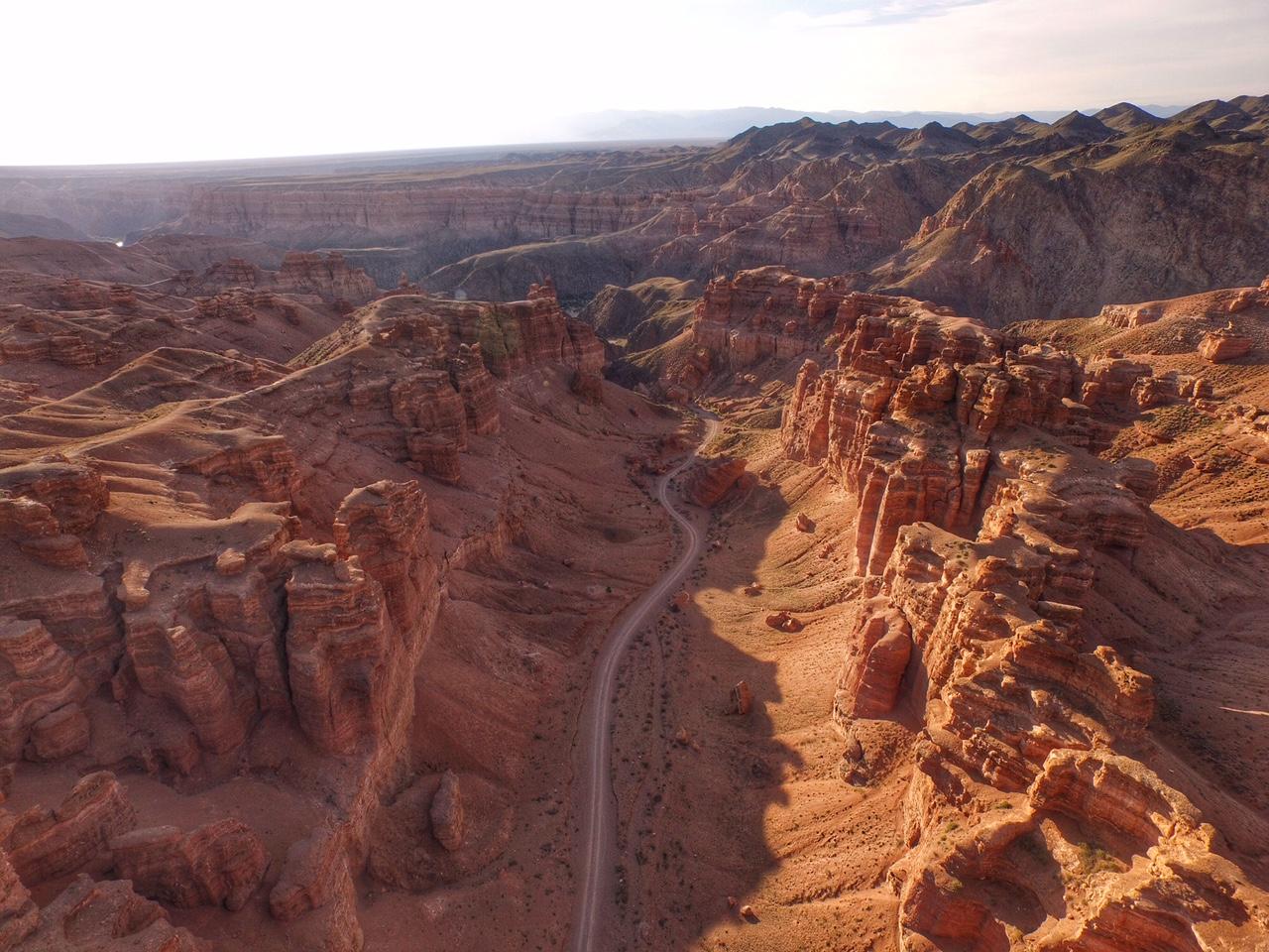 Чарынский каньон. Вид с высоты.