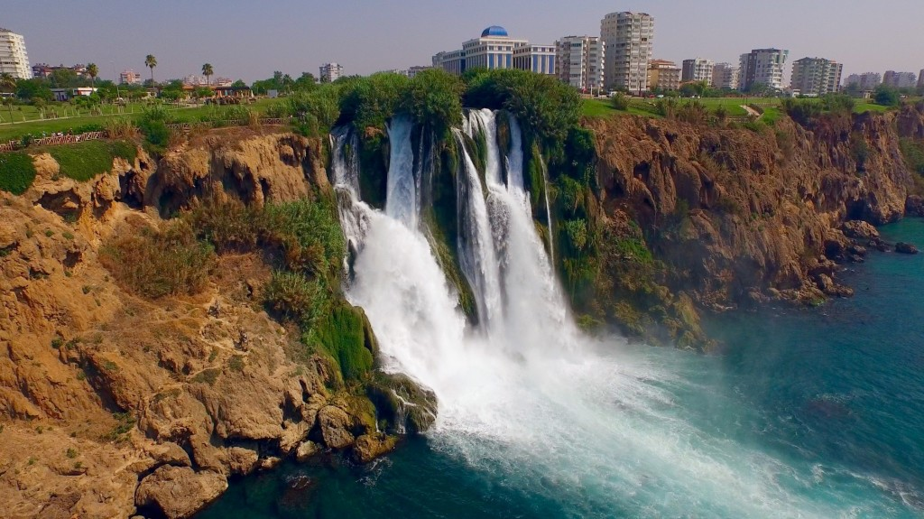 Antalya . Duden Park. Waterfall