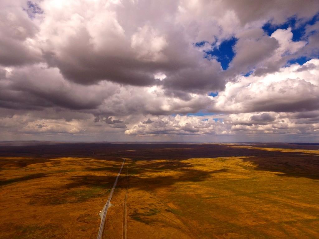 Дорога в Караганду. Облака