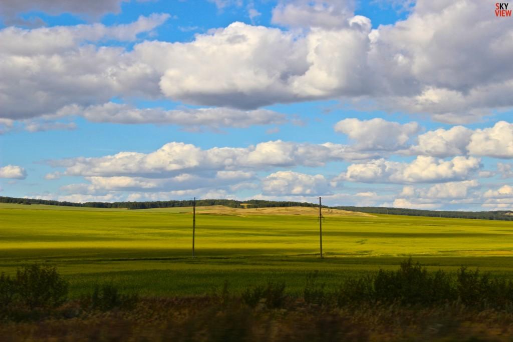 Кокшетау . Очень красивые поля. Кокшетау - Боровое