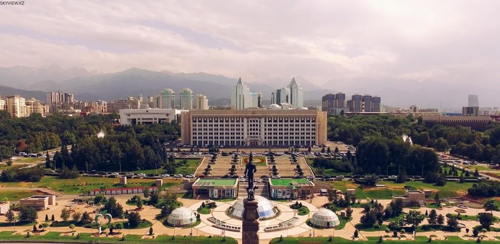 Акимат. Новая площадь . Алматы