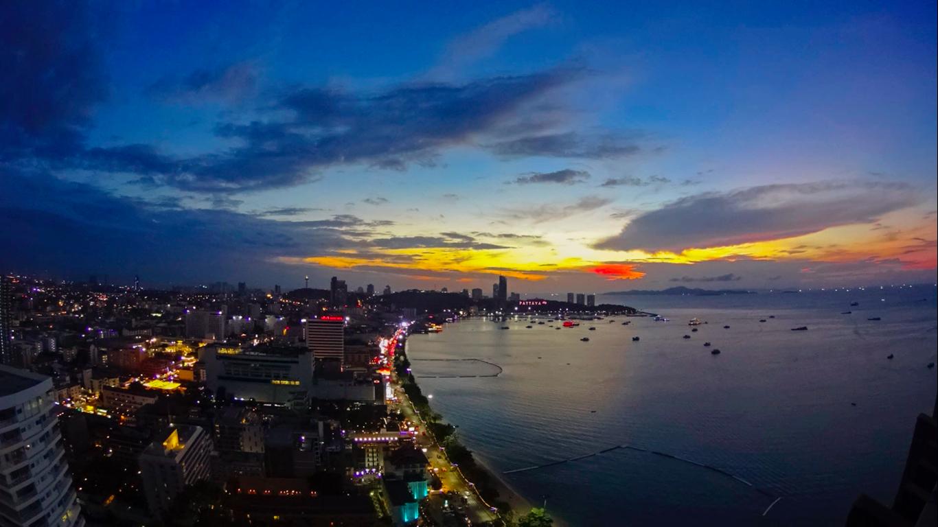 Hilton Hotel View / TimeLapse / Pattaya