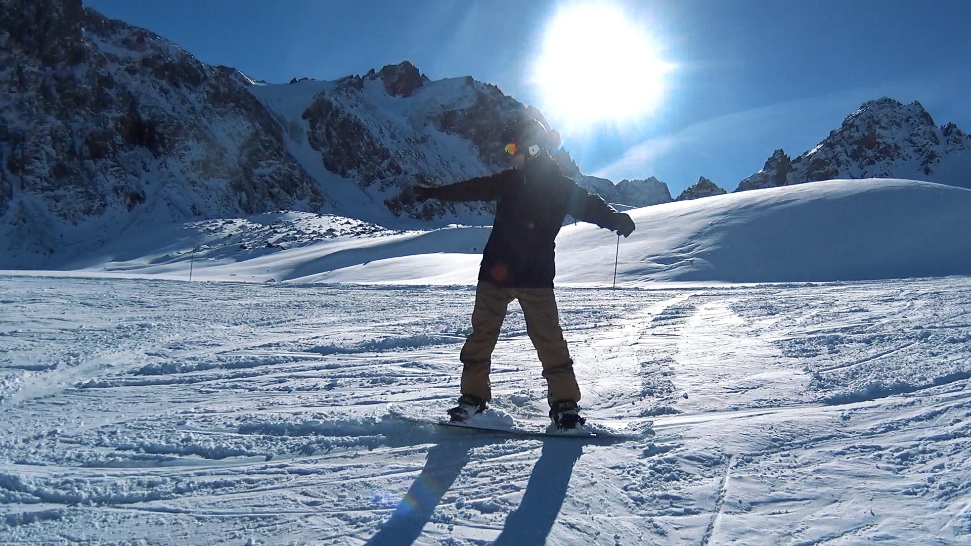 Покатушки на сноуборде / Shymbulak Ski Resort
