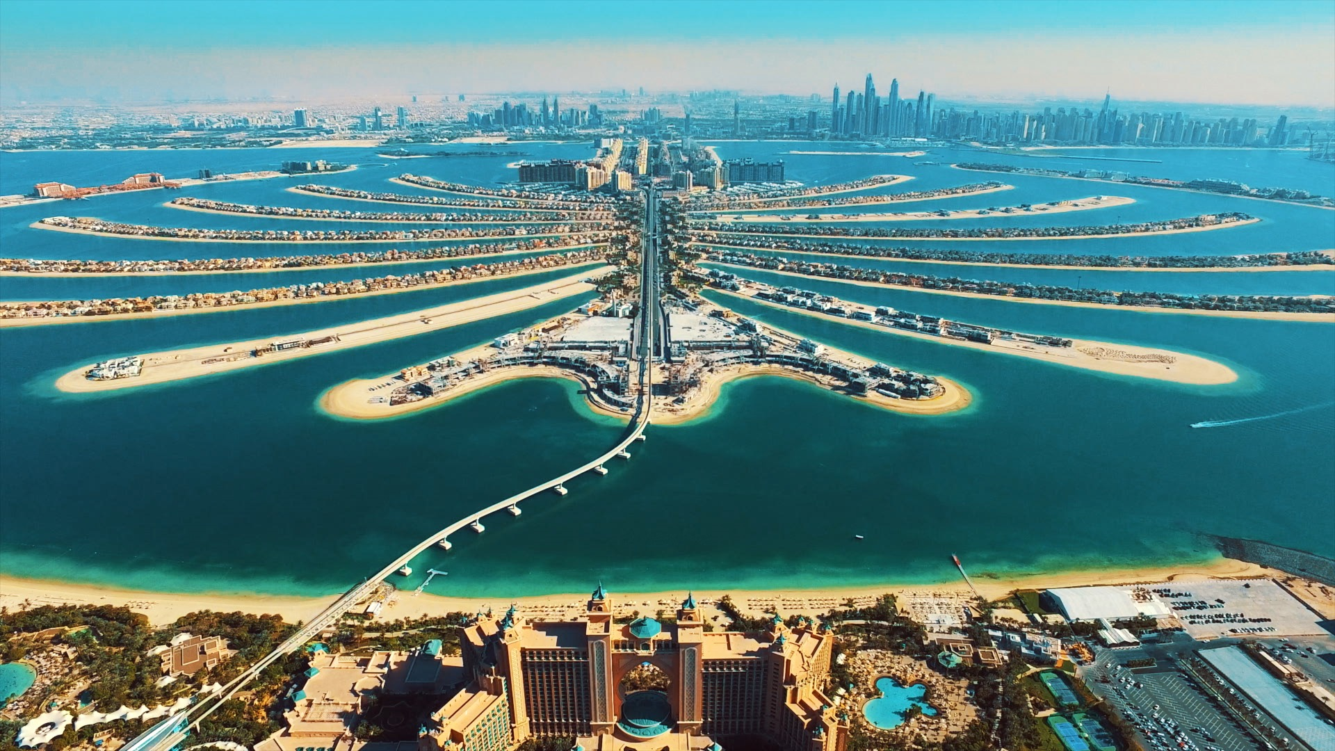 The Palm Jumeirah. Dubai