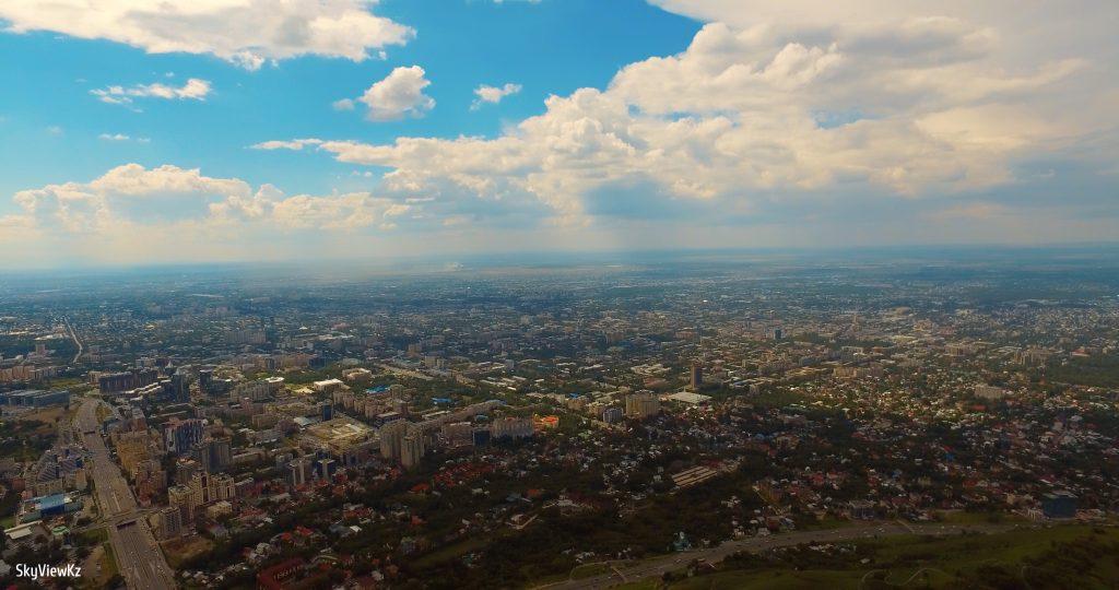Вид с Телебашни Коктобе на Алматы