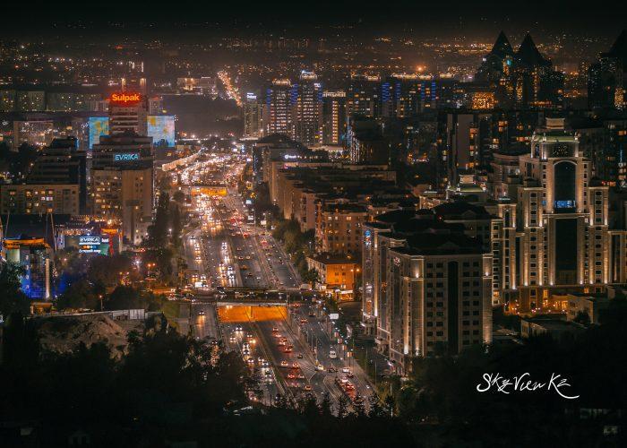 ночная Алмата