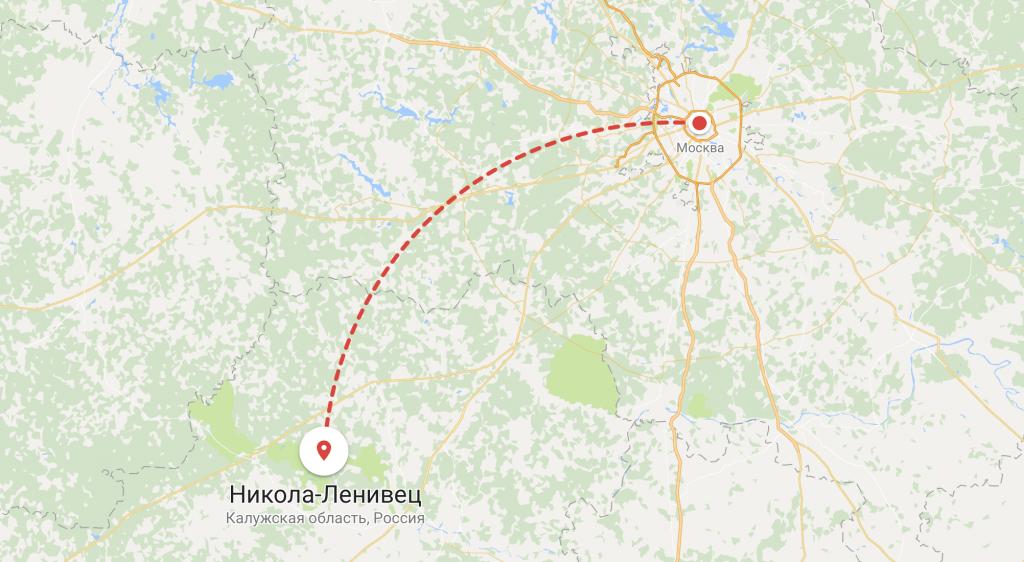 Никола-ленивец на карте