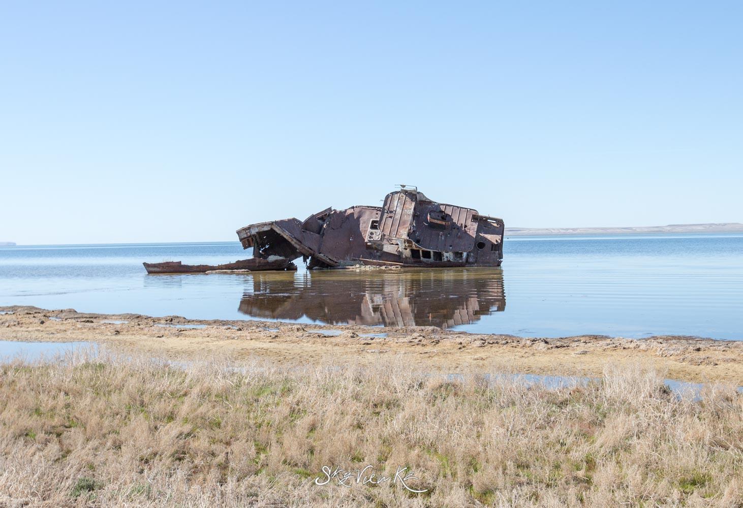 Корабль. Аральское море